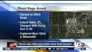 Man arrested after firing gun during road rage incident - Video