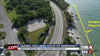 Sanibel declares state emergency for beach erosion