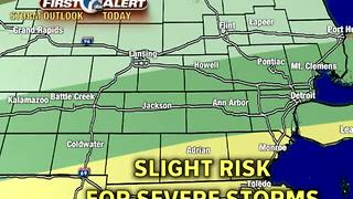 Strong storms possible today - Video