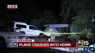 Plane crashes into Payson home