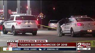 Tulsa Police investigate second homicide of the year - Video