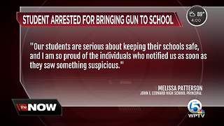 Student brings unloaded gun to John I. Leonard High School - Video