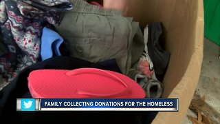 Local family giving up holiday to serve others at nearby park