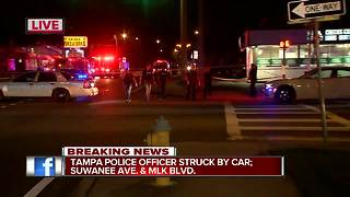 Tampa police officer injured in crash - Video