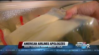 Airlines apologizes to mom forced to throw away breast milk - Video