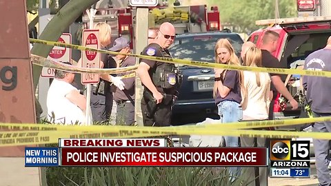 Arrest made after suspicious package contained a white powder in Phoenix