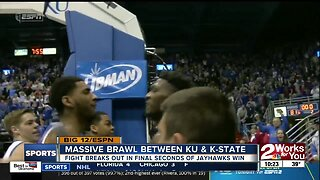 Massive brawl breaks out between Kansas and Kansas State Basketball players