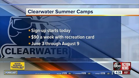 Clearwater Summer Camps registration begins March 21