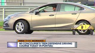 Teen defensive driving course today in Pontiac - Video