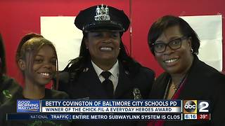 Cpl. Betty Covington is the February 2018 winner of the ABC2/Chick-fil-A Everyday Heroes award - Video