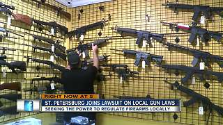 St. Petersburg mayor joins lawsuit against Gov. Scott over gun regulations law - Video