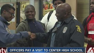 Police officers visit Center High School
