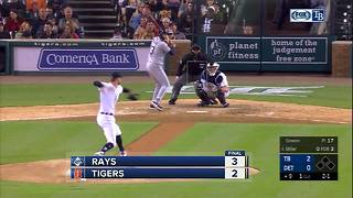 C.J. Cron and Brad Miller homer in ninth inning to lift Tampa Bay Rays over Detroit Tigers 3-2 - Video