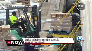 Cruise ship used to send aid - Video