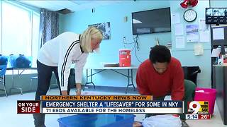 Emergency cold shelter 'lifesaver' for NKY homeless - Video