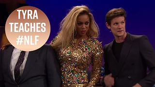 Matt Smith hilariously fails to be fierce with Tyra - Video