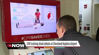 Cleveland Hopkins debuts life-saving CPR training kiosk - Video