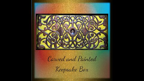 Carved and Painted Keepsake Box