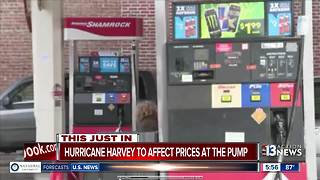 Hurricane Harvey's affect on gas prices