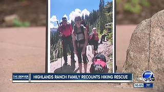 Vail rescue group saves family of five and dog stranded atop mountain - Video