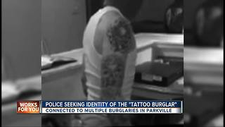 Police looking for Parkville tattooed burglar - Video