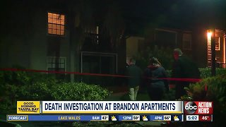 Death investigation underway at Brandon apartment complex