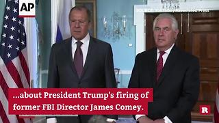 Lavrov reacts sarcastically to questions about Comey | Rare News - Video