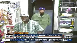 Las Vegas police want to talk to men about murder - Video