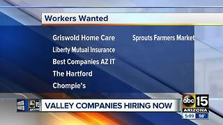 Several places now hiring in the Valley - Video