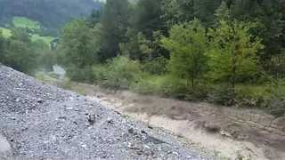 Banks of Tyrol River Swollen After Storm - Video