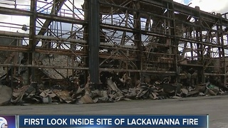 First look inside Bethlehem Steel after massive fire - Video
