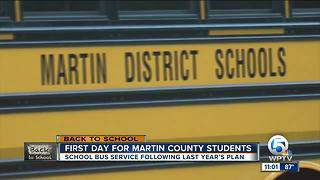 Martin County students head back to class for first day