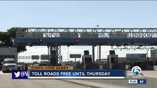 Florida tolls will be reinstated Thursday morning after Irma - Video