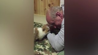 """Puppy Talks To Its Owner"""