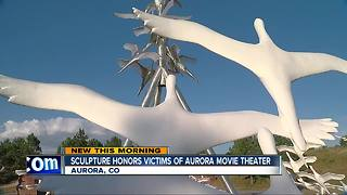 Sculpture unveiled that honors victims of Aurora shooting