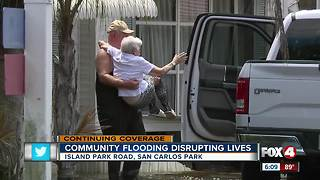 Floodwaters gradually decreasing in San Carlos Park neighborhoods - Video