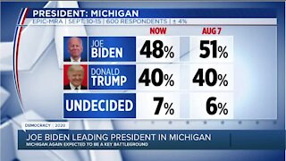 Joe Biden leading President Donald Trump in latest poll