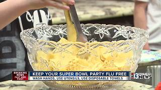 Keep your Super Bowl party flu-free - Video