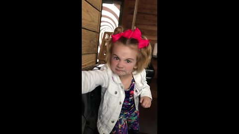 'Don't eat any french fries!' - Cutest little girl keeps a watchful eye