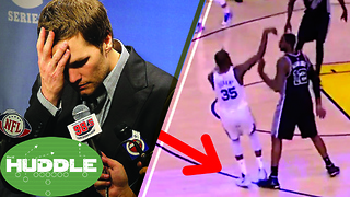 Tom Brady Caught CHEATING Again? Did LaMarcus Aldridge Try to Injure Kevin Durant? -The Huddle - Video