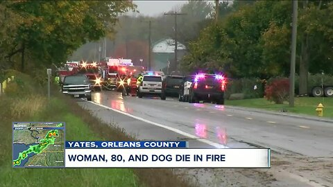 80 year-old woman and dog die in fire