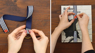 DIY Ribbon bookmarks made with 3 objects you have already in your house - Video