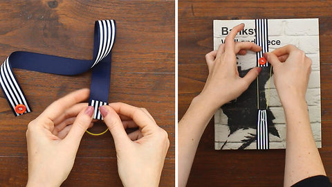 DIY Ribbon bookmarks made with 3 objects you have already in your house