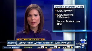 Denver is 11th in country for high student loan debt
