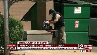 Muskogee bomb threat ends - Video