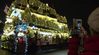 Britain's 'most festive pub' is decorated in 21,000 fairy lights for Christmas - Video