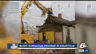 Blighted homes demolished in Shelbyville