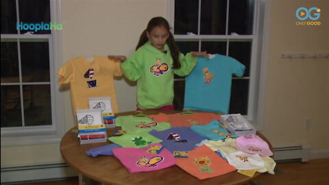 Young Girl Starts Charity To Help Kids By Coloring Outside The Lines