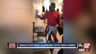 Two single mothers surprised with fully-furnished homes in Dunedin thanks to Warrick Dunn Charities