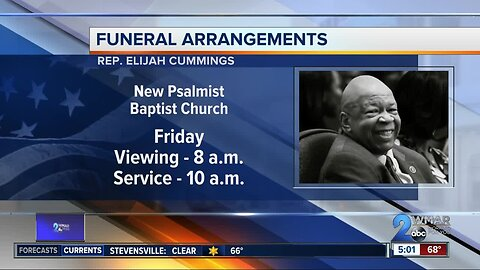 Watch: Mourners pay respects to Rep. Elijah Cummings